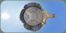 Victory Square in Lodi little planet version