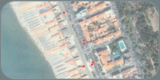 viareggio carnival on google maps