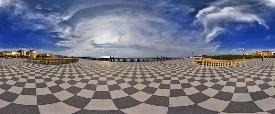 Tour Virtuale della Terrazza Mascagni, foto a 360° di Livorno