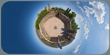 panorama from rocca little planet